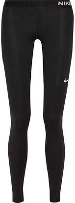 Nike - Pro Cool Dri-fit Stretch-jersey Leggings - Black $55 thestylecure.com