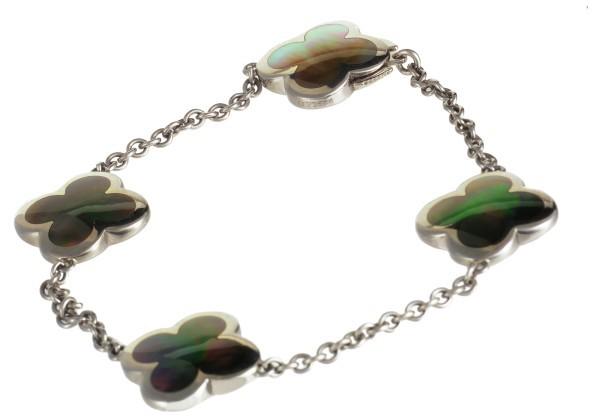 Van Cleef & ArpelsVan Cleef & Arpels 18K White Gold Pure Alhambra Black Mother of Pearl Bracelet