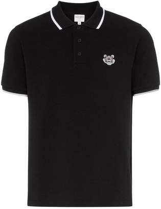 Kenzo tiger-embroidered cotton polo shirt