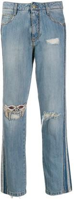 Ermanno Scervino embellished-mask jeans