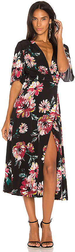 1. STATE Wrap Front Maxi Dress