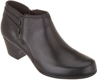 Clarks Leather Strap Detailed Booties - Valarie Ashly