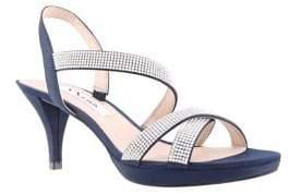 Nina Nizana Embellished Satin Sandals