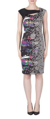 Joseph Ribkoff Pixel Print Dress