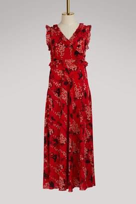 RED Valentino Monkey print long silk dress