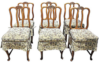 One Kings Lane Vintage French Dining Chairs - Set of 6 - House of Charm Antiques