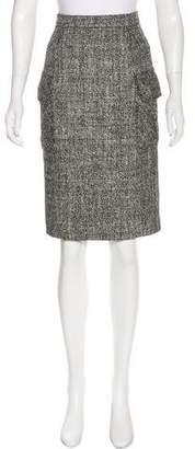 Saint Laurent Tweed Knee-Length Skirt