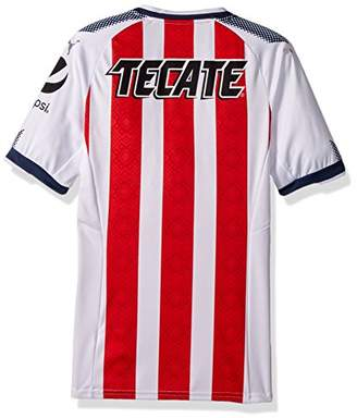 Puma Men's Chivas Shirt Replica 17-18, Home red New Navy White, XL