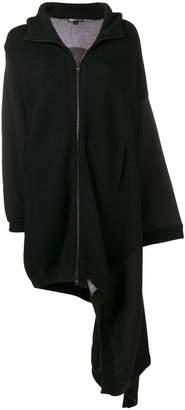 Y-3 asymmetric hooded coat