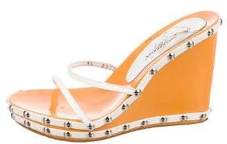Dolce & Gabbana Slide Wedge Sandals