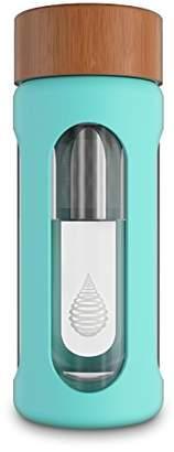 pH Hydrate Glass Alkaline Water Filter Bottle - Portable Alkaline Water Filter Ionizer - Filtered Water Bottle - Increase pH