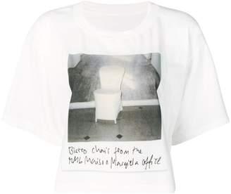 MM6 MAISON MARGIELA Polaroid chair printed T-shirt