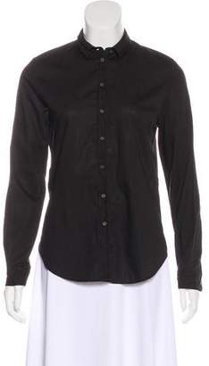 AllSaints Long Sleeve Button-Up Top