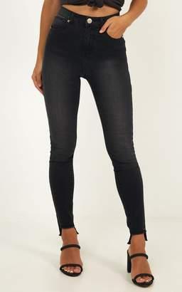 Showpo Carla Jeans in charcoal - 6 (XS) Jeans