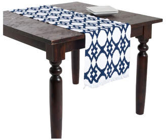 Beachcrest Home Cannon Ikat Design Ribbed Table Runner