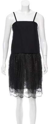 Chloé Lace-Trimmed Sleeveless Dress w/ Tags