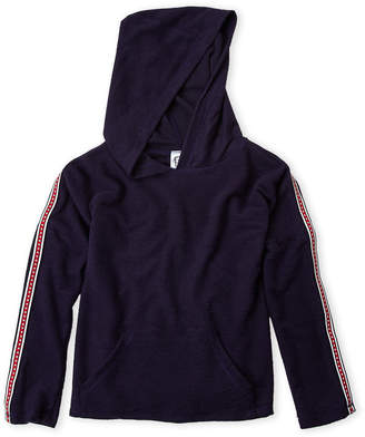 Erge Girls 7-16) Fleece Track Stripe Hoodie