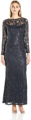Marina Women's Stretch Sequin Lave with Long Sleeve