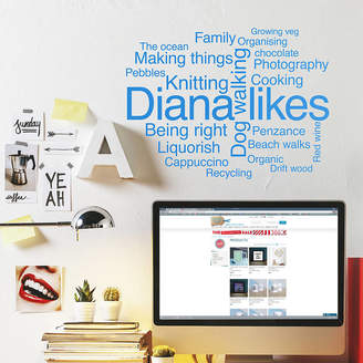 Oakdene Designs Personalised '' Word Cloud Wall Sticker