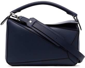 Loewe navy blue Puzzle medium leather shoulder bag
