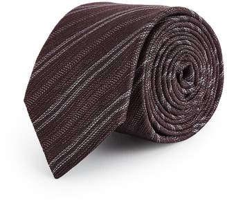 Reiss Fleur - Tonal Pattern Tie in Bordeaux