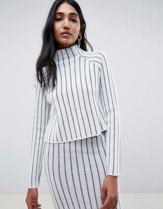 Asos DESIGN two-piece deep rib sweater with high neck