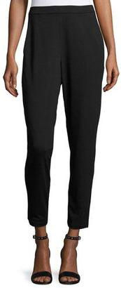 Eileen Fisher Slim Slouchy Ankle Pants, Black $138 thestylecure.com