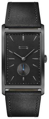 Uri Minkoff Pesaro Black Tone Leather Watch, 27MM X 45.5MM