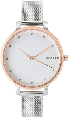Skagen SKW2662 Silver-Tone & Rose Gold-Tone Watch