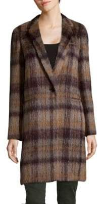 Lafayette 148 New York Marabela Alpaca Wool Plaid Coat