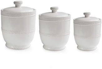 American Atelier Bianca Bead 3-pc. Canister Set