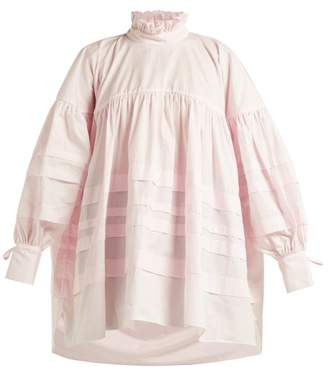 Cecilie Bahnsen - Alberte Oversized Cotton Blouse - Womens - Light Pink