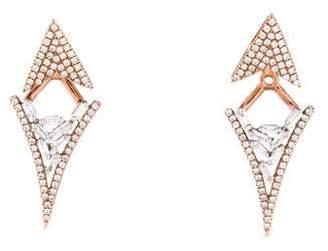18K Diamond Triangle Drop Earrings