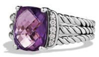 David Yurman Petite Wheaton Ring with Diamonds $495 thestylecure.com