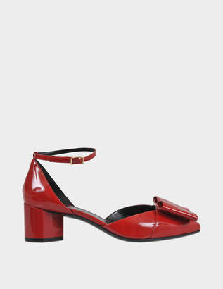 Pierre Hardy Obi mid patent pump with bow