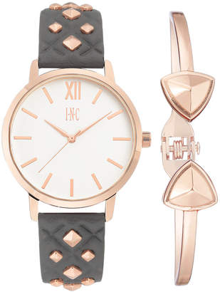 28d2aef321 INC International Concepts I.n.c. Women Faux Leather Strap Watch 38mm Gift  Set
