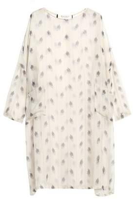 Marni Printed Silk-Gauze Mini Dress