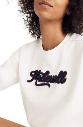 Madewell Embroidered Varsity Sweatshirt