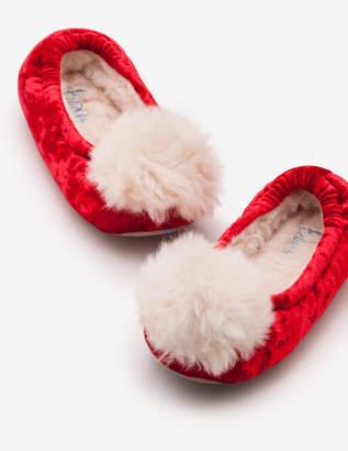 Boden Pompom Slippers