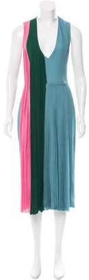 Brandon Sun Tri-Color Pleated Dress