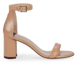 Stuart Weitzman Adelaide Leather d'Orsay Sandals