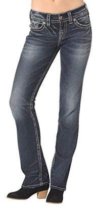 Silver Jeans Women's Suki Mid Rise Slim Bootcut Jean $88 thestylecure.com