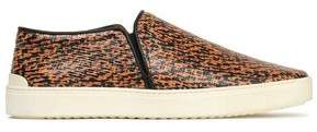Rag & Bone Printed Textured-Leather Slip-On Sneakers