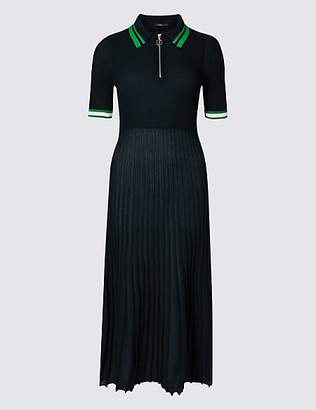 Limited Edition Textured Collared Neck Jumper Dress