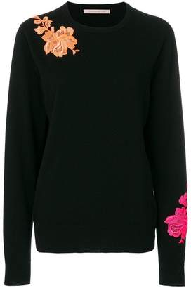 Christopher Kane flower embroidery crewneck