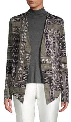 BCBGeneration Mixed Print Open-Front Jacket