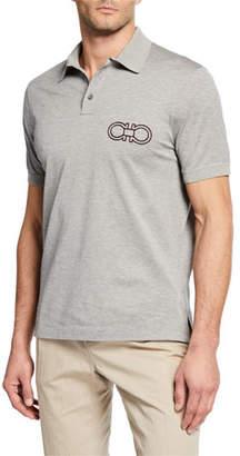 Salvatore Ferragamo Men's Gancini Logo Polo Shirt