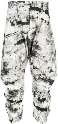 Birk Nielsen drop crotch cropped trousers