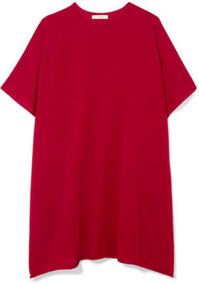 The Row Cafty Cashmere And Silk-blend Poncho - Red