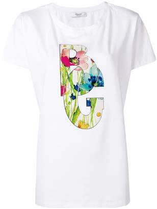 Blugirl floral logo T-shirt